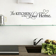 Quote Kitchen+Home Mural Art DIY Decal Decor PVC Black Wall Sticker Removable