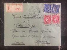 1940 Pierre Benite France Cover To General Agency Of POW In Geneva Switzerland