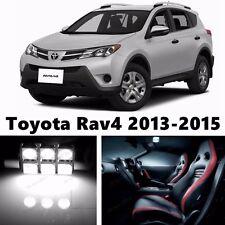 10pcs LED Xenon White Light Interior Package Kit for Toyota Rav4 2013-2015