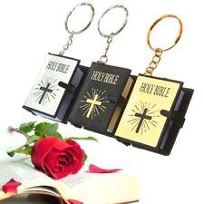 Bible Key Chain Christian Jesus Cross Keyring Minature Gift Sunday 1PC A