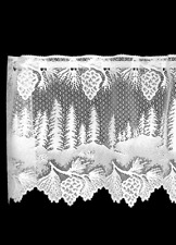 "Heritage Lace White PINECONE Window Valance 60"" W x 16"" L"
