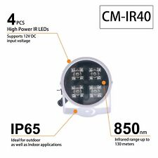 CMVISION IR40 WIDEANGLE 60-80 DEGREE 4PC POWER LED 100FEET LONG RANGE INDOOR/OUR