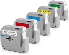 5pk M K231 Mk231 Fit Brother P Touch M Tape 12mm White Label Maker Pt90 Pt80 70