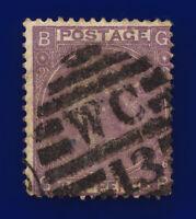 1867 SG104 6d Lilac (Hyphen) Plate 6 J75(1) GB Misperf Fair Used Cat £175 cjhs