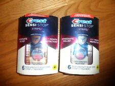 LOT OF 2 Crest Sensi-Stop Strips 6 Treatments Teeth Sensitivity READ BELOW