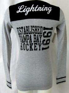 """Tampa Bay Lightning Womens Small Embroidered """"EST 1991"""" Thermal Shirt ATBL 41"""