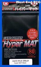 KMC Sleeves MTG Hyper Mat Black 80ct Ultra Pro Magic Pokemon Standard