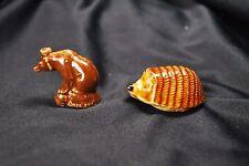 Vintage: WADE ~ HEDGEHOG & CIRCUS BEAR Porcelain Animal Figurines.England