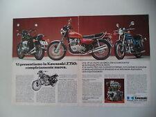 advertising Pubblicità 1975 MOTO KAWASAKI Z 900/Z 750/Z 400