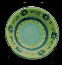 """Green / Blue Flowers by Mulberry SOUP & CEREAL BOWL 8 1/2"""""""