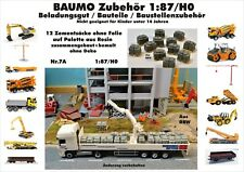 Nr.7A 12 Zementsäcke ohne Folie auf Palette 1:87/H0 Resin f.Baufahrzeug Eisenb,