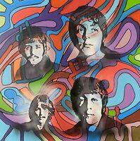 Dean Russo Art Original Artwork on Canvas The Beatles Music McCartney Lennon