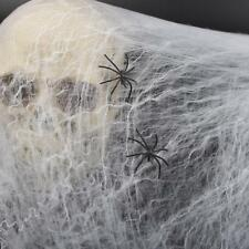 Haunted House Halloween Party Decoration Prop Cobwebs Spider Web Outdoor Decor