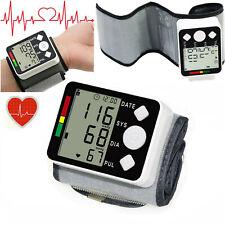 Wrist Blood Pressure Monitor  LCD Digital Display  Heart Beat Rate Pulse Measure