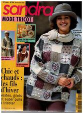 ▬► SANDRA  124 / NOVEMBRE 1994 MODE TRICOT FEMMES ENFANTS HOMMES HIVER