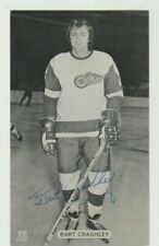 BART CRASHLEY DETROIT RED WINGS SIGNED 3 BY 5 PHOTO