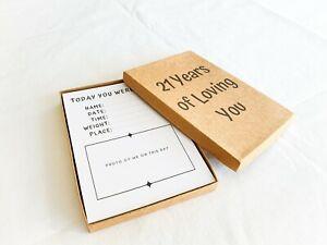 21 Years of Loving You - Baby Book / Baby Keepsake / Baby Gift / Baby Shower