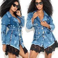 By Alina MEXTON Damenjacke Jeans Jeansjacke Übergangsjacke 34 - 36 #D338