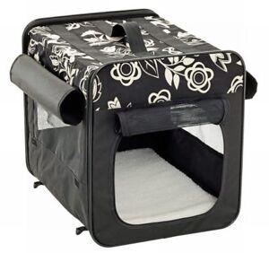 Smart Top Basic - FALTBOX - SCHWARZ -  Hunde Transportbox-  Tasche - Hundebox