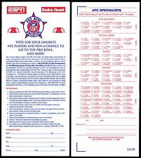 1995 AFC PRO BOWL UNUSED FAN BALLOT~1994 NFL FOOTBALL SEASON~MANY HALL-OF-FAMERS