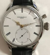 VINTAGE PATEK PHILIPPE WINDING POCKETWATCH MOVEMENT STAINLESS STEEL CASE