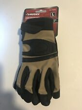 2 Pair Lg Husky Medium Duty Goat Leather Gloves Touchscreen Compatible New