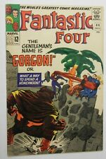FANTASTIC FOUR #44 - Introduction of Gorgon - Marvel 1965 VG/FN Vintage Comic