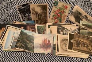 Lot of 800 ++ Plus Vintage Foreign Postcards