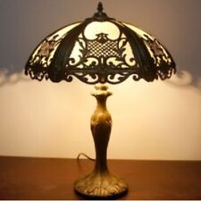 Tiffany Style 18 Inch Table Lamp Stained Glass Handcrafted Shade Antique Bronze