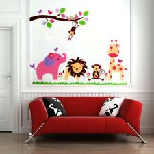 Lion Elephant Jungle Animal Home Room Art Mural Removable Wall Sticker Decals