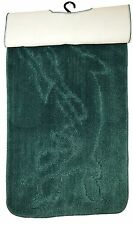 Soft Durable Toilet Mats, Bathroom Rugs, Non Slip Rubber Pedestal Mat Set of 2