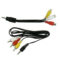 3 ft RCA to 3.5mm Jack Composite A/V Cable and 3.5mm to RCA Audio Video Adapter