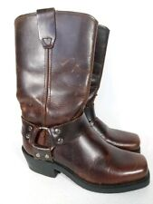 Grinders Tan Leather Cowboy Boots. Size 5.
