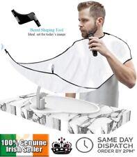 Men's Facial Hair Beard Apron Cape Shave Trimming Beard Comb Trim Catcher Bib