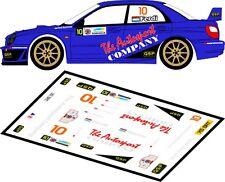 DECALS 1/43 SUBARU IMPREZA WRC - #10 - BIESHEUVEL - RALLYE DU TAC 2012 - D43105