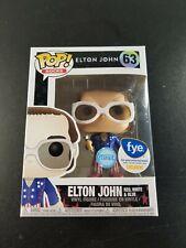 Funko Pop Elton John 63 Glitter Fye Exclusive