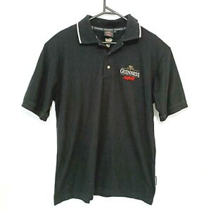 Guinness Beer Mens Shirt Size L Black Short Sleeve Collared Golf Polo Authentic