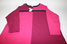 NWT Bechamel Stretch Multi Color Block Long Sleeve Shirt Women Size 1X