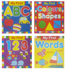 Baby First Words Books 123 ABC Shapes Hardback 4 PACK Early Reading Educational