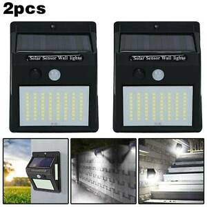 100 LED Solar Power PIR Motion Sensor Security Lamps Outdoor Garden Wall Lights