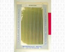 Microscale HO Decals 1/8 Inch Wide Gold Parallel Stripes PS-3-1/8