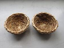 Waldvogelnest gebundene Blätter 2 Stk. Größe D = 11 x 5 cm Nester Kanariennester