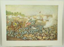 Battle of Williamsburg Vintage Civil War Kurz & Allison Lithograph Folio Print
