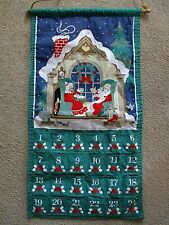 Vintage Avon Advent Calendar 1987 Countdown To Christmas No Mouse Santa & Mrs.