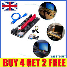 More details for ver009s pci-e riser card pcie 1x to 16x usb 3.0 data cable bitcoin mining uk