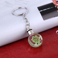 Light Christmas Tree Chocker LED Key Chain Dry Flower Pendant Necklace Keyring Green