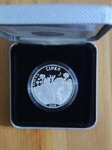 2014 1Oz Silver Proof coin Kazakhstan 500 tenge Sirko (ukranian tale)