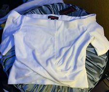 Materia Girl White Off The Shoulder Crop Top Blouse Sz Medium Macy's Blouse