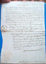 1806 DOCUMENTO DA SAN PIETRO IN LAGUNA SU UN MATRIMONIO. AUTOGRAFO BOSCHI FAENZA