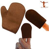Reneetan 3 Packs Self Tan Mitt Sunless Tan Gloves Applicator Face Mitts for Self